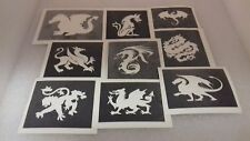 30 dragon stencils for boys  girls glitter tattoos fund raising children