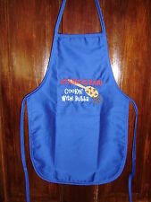 CUTE! mach embroid kids apron...Cookin' with Bubba!Your choice. Personalized