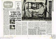 Coupure de presse Clipping 1983 (2 pages) La Chasse à l'Arc