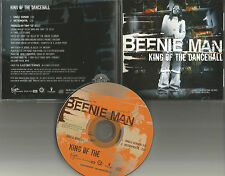 BEENIE MAN King of the Dancehall w/ SINGLE version & INSTRUMENTAL PROMO DJ CD