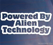 POWERED BY ALIEN TECHNOLOGY Funny Car/Van/Truck/Window/Bumper Sticker/Decal