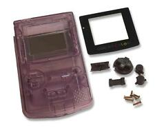 Game boy gameboy color gbc clair violet coque etui case housing w écran & outils uk