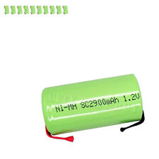 10 x Sub C 1.2V 2900mAh NiMH Rechargeable Battery green