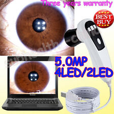 NEW 5.0 MP 4 LED/2 LED USB DigitaI Eye Iriscope / Iridology camera Pro Software