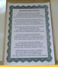 Special Boat Service Poem.