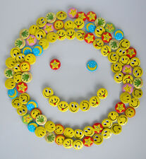 Lovely Happy Yellow Smiley Face Badges Badge Pin Lot of 105pc F0 D2.5 UK