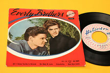 """EVERLY BROTHERS EP 7"""" ORIG ITALY 1958 DEBUT RECORD TOP RARE 4 CANZONI"""