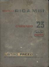 Catalogo ricambi Carraro 23 Listino Prezzi -  Trattori Trattrici Motori anni '50