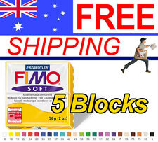 FIMO Soft Polymer Clay 56g Block - 5 Blocks - Choice of 24 colours - Free Post