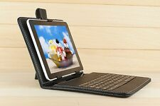 8'' inch Universal USB2.0 Leather Keyboard Case Cover  for Andriod PDA Tablet PC