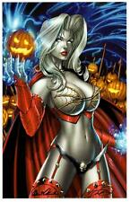 LADY DEATH DEADLY HALLOWEEN ART PRINT -  MIKE DeBALFO & BRIAN PULIDO  - SIGNED