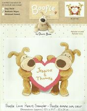 DMC BOOFLE LOVE HEART SAMPLER COUNTED CROSS STITCH KIT NEW 32x24cm