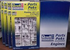 4 PONTIAC 421 V-8 ENGINE MODEL KITS CHROME 1:25 REVELL 1998 MINT NO LONGER MADE