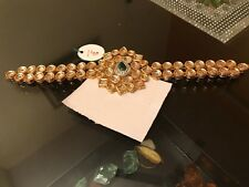 Designer Gold Tone Bollywood Kundan Choker Style Women Necklace Jewelry V175