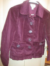 PURPLE VELOUR FEEL BLAZER OR CASUAL JACKET FROM TALBOTS-LADIES SIZE 6 PETITE