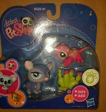Littlest Pet Shop LPS 1454 1455 Armadillo and Gecko - New in Package