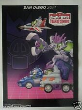 SDCC Comic Con 2014 EXCLUSIVE Hasbro Angry Birds Transformers DECEPTICONS Poster