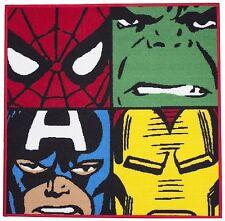MARVEL COMIC DEFENDERS KIDS SUPERHERO RUG SPIDERMAN HULK CAPT AMERICA IRON MAN