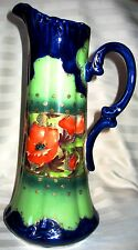 Extremely Rare Nippon Ewer , Hand Painted, Cobalt Blue with Poppies 1800's