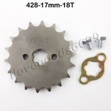 428 18 Tooth 17mm Front Engine Gear Sprocket For GPX SSR SDG Orion Pit Dirt Bike