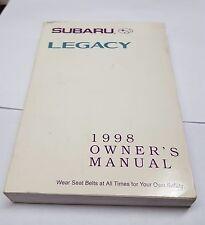 1998 Subaru Legacy owners manual