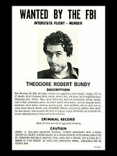 Framed Print - FBI Wanted Poster of Ted Bundy (Picture Art Serial Killer Ripper)