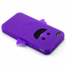 Purple Angel Happy Silicone Soft Design Case For iPhone 4 4G 4S NEW