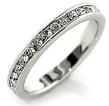 "B. Brilliant Wedding Band Channel Set Cubic Zirconia Eternity Ring ""Gift Box""$80"