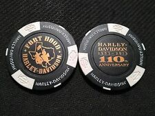 "Harley Davidson Poker Chip (110 ANNIVERSARY) ""Fort Hood "" Harker Heights, Texas"