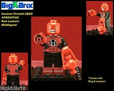 RED Lantern ATROCITUS DC Custom Printed LEGO Minifigure w/ Custom RING & LANTERN