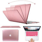 Rose Gold Metallic Hard Case Cover Shell for Macbook Air Pro Retina 11 12 13 15