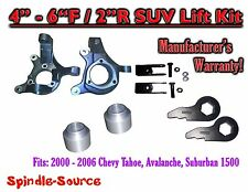 """00-06 Chevy Suburban Tahoe Avalanche 1500 4-6"""" Lift Kit Spindle Torsion key Ext"""