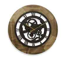 FirsTime Industrial Home Decor Chic Style Gear Wall Clock, Bronze Finish, Wood