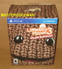 PS4 LittleBigPlanet 3 Plush Edition New Sealed + DLC Pack Playstation 4