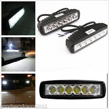 One Pair 6-LED 18W Slim Car SUV Fog Headlight Spot Lamps For Jeep Grand Cherokee