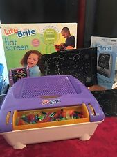 Lite Brite Cordless Battery Powered Flat Screen Childrens Game Pegs And Sheets