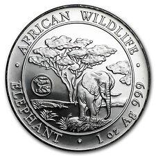 2012 Somalia 1 oz Silver African Elephant (Dragon Privy) - SKU #66002