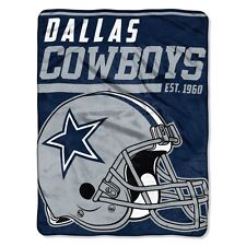 "New NFL Dallas Cowboys Soft Micro Rasche Large Throw Blanket 46"" X 60"""