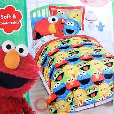 Sesame Street Elmo Friends Bedding Comforter Sheets Set  4pc Twin SEt