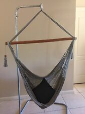 LARGE SIZE GREY HANGING HAMMOCK CHAIR HANDMADE FROM CENTRAL AMERICA