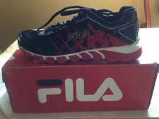 Fila Boy Shoes Turbo Fuel Black Red Silver Sz 6 Running Youth