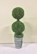New Design Potted  37cm Artificial Topiary / Pot Plant Green Double Ball