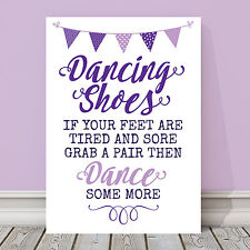 Purple & Lilac Dancing Shoes Wedding Flip Flop Basket Table Sign 3 FOR 2 (PL5)