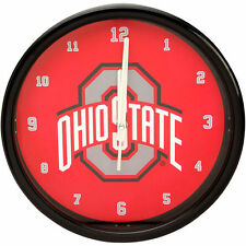 Ohio State Buckeyes Black Rim Basic Wall Clock - NCAA