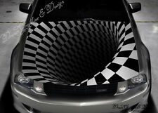 Abstract 3D Full Color Graphics Adhesive Vinyl Sticker Fit any Car Bonnet #116