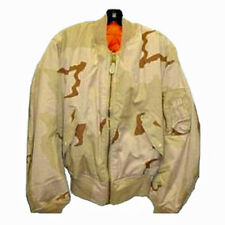 Alpha Industries MA-1 Jacket 3 Color Desert Camouflage USA Made Size Large