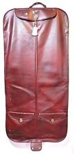 Vintage AMERICAN TOURIST Mahogany Faux Leather Luggage Garment Suit Bag 49 x 24