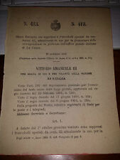 REGIO DECRETO 1903SOPPRIME FRANCOBOLLI SPECIALI 25 CENT UFFICIO POSTALE LA CANEA
