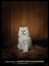 "TODD HIDO 'White Cat' Silver Meadows, 2013 Exhibition Poster 16"" x 12"" **NEW**"