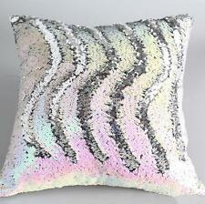 "Pink Sequin Sofa Cushion Cover Beaded Throw Pillow Case Cushion Cover 16""x16"""